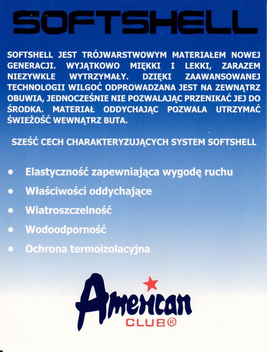 American SOFTSHELL sklep internetowy Obuwie RED